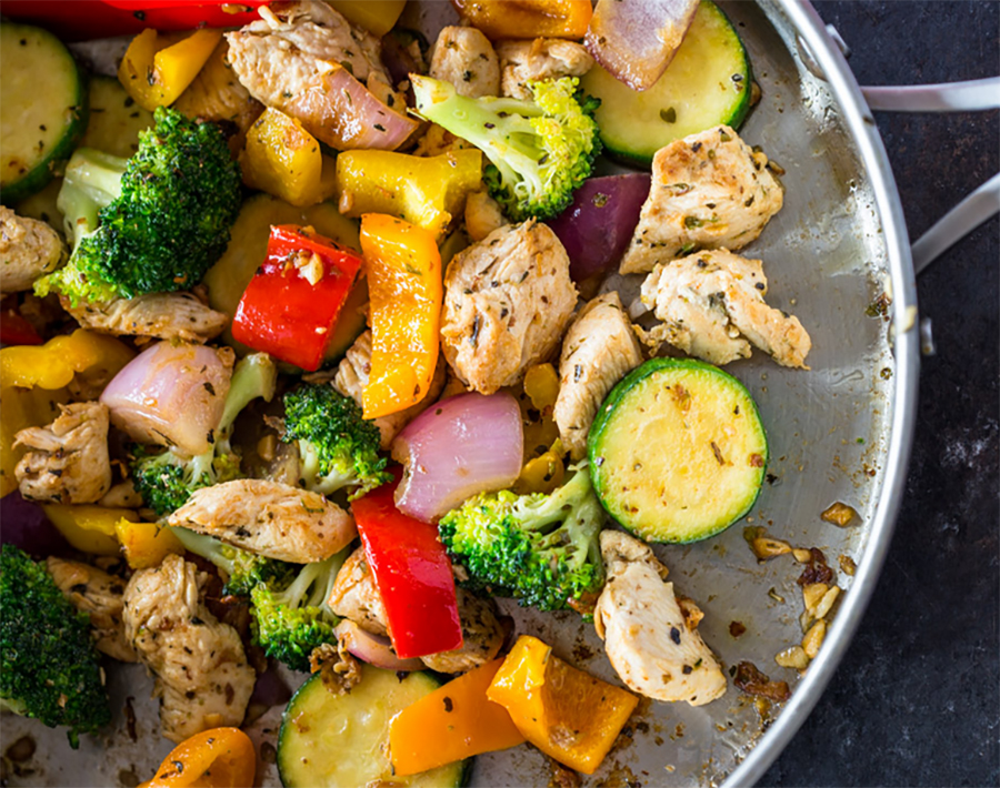 Easy healthy dinner: Quick Healthy 15 Minute Stir-Fry Chicken and Veggies