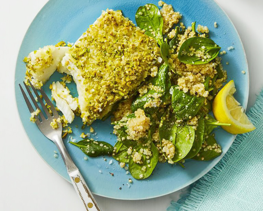 Easy healthy dinner: Pistachio-Crusted Fish