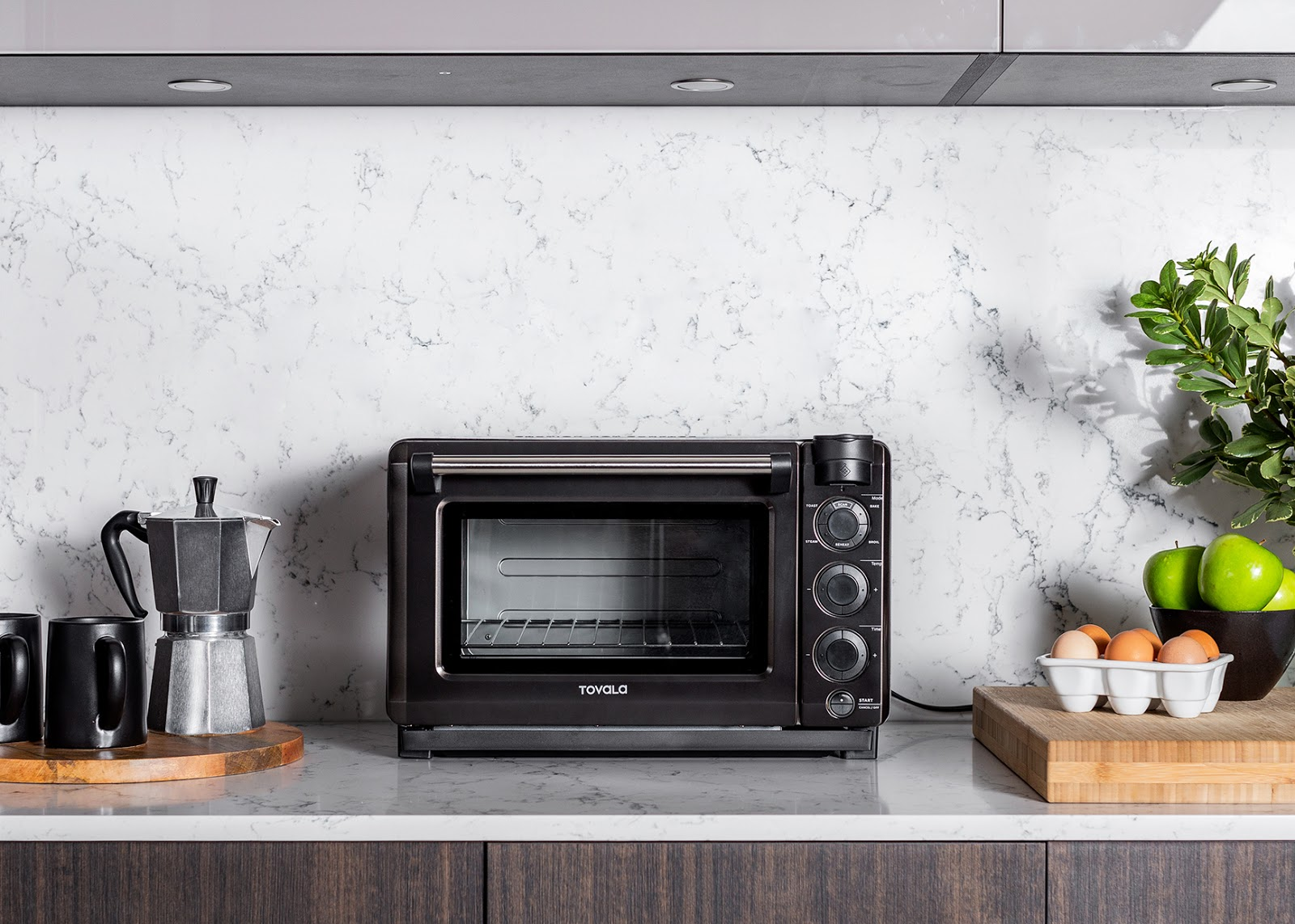 Steam convection oven: the Tovala Steam Oven on a modern countertop