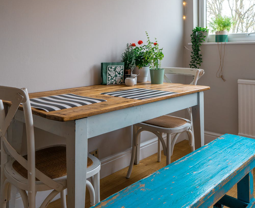 Tiny house appliances: a small dining space