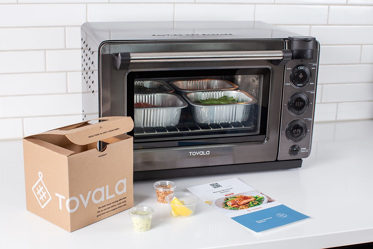 What to make for dinner: Tovala meals being baked in the Tovala oven