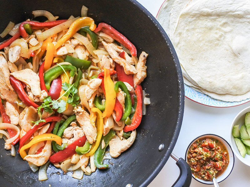Chicken dinner ideas: Chicken Fajitas