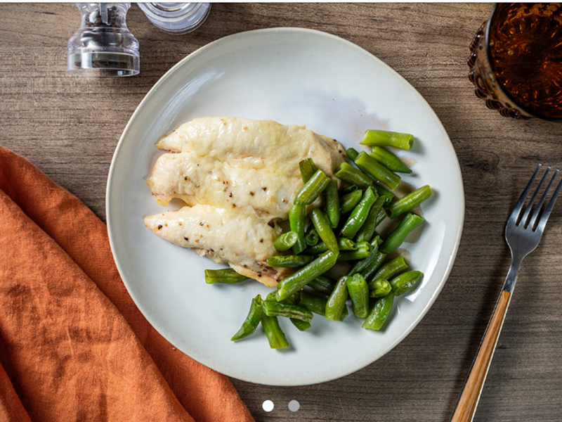Chicken dinner ideas: Parmesan Chicken Tenders and Green Beans
