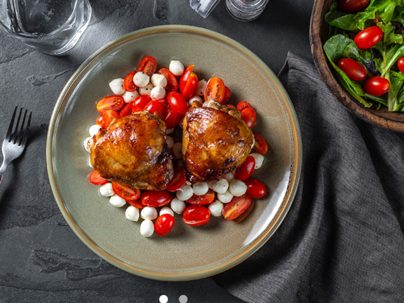 Chicken dinner ideas: Balsamic Glazed Chicken Thighs With Caprese Salad