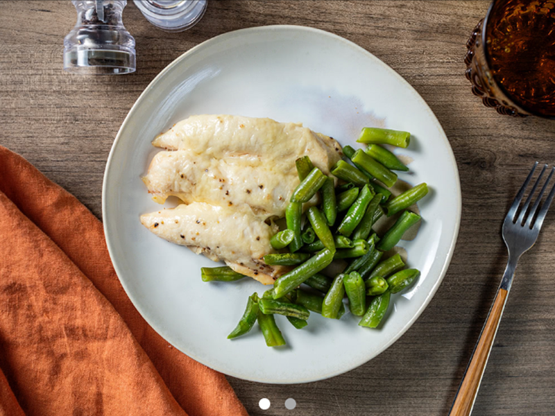 Quick easy dinner: Parmesan Chicken Tenders and Green Beans