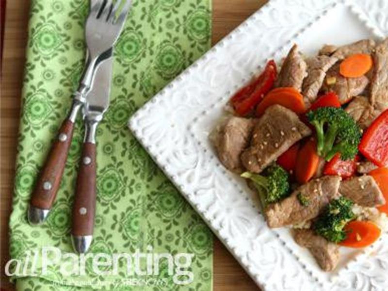 Quick easy dinner: Easy Pork Stir-Fry With Vegetables & Hoisin Sauce