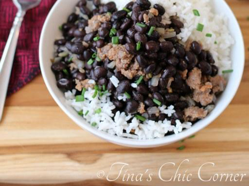 Quick easy dinner: Black Beans, Sausage & Rice