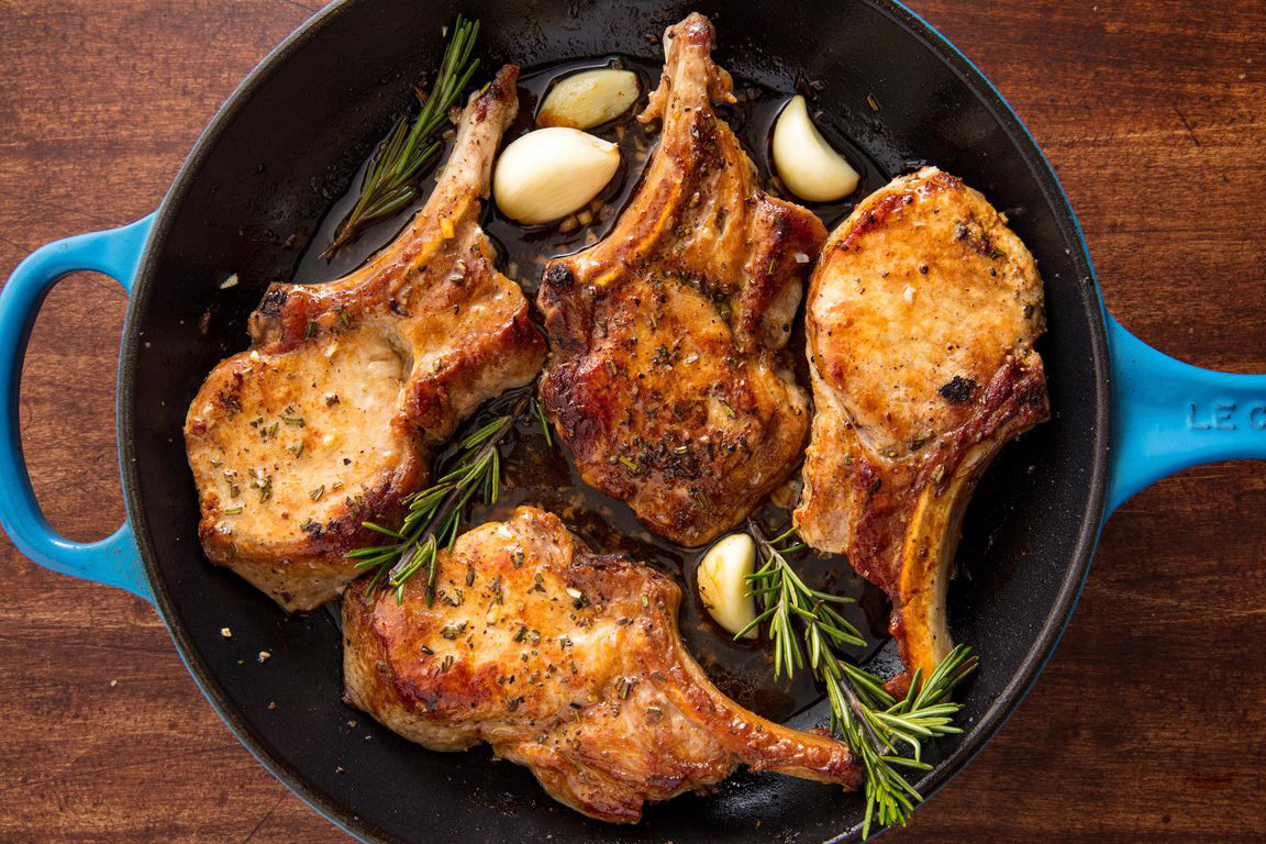 Fast dinner ideas: Garlic Rosemary Pork Chops