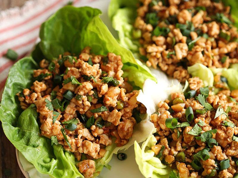 Healthy quick meals: Healthy Turkey Lettuce Wraps