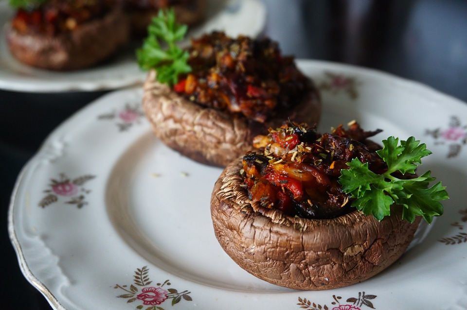 Countertop oven: stuffed portabella mushrooms