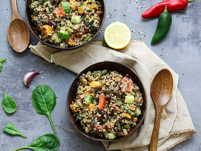 High-protein dinners: Rich and Refreshing Quinoa Salad