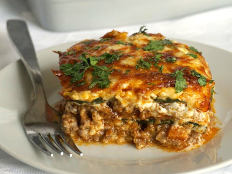 High-protein dinners: High-Protein Low-Carb Zucchini Lasagna