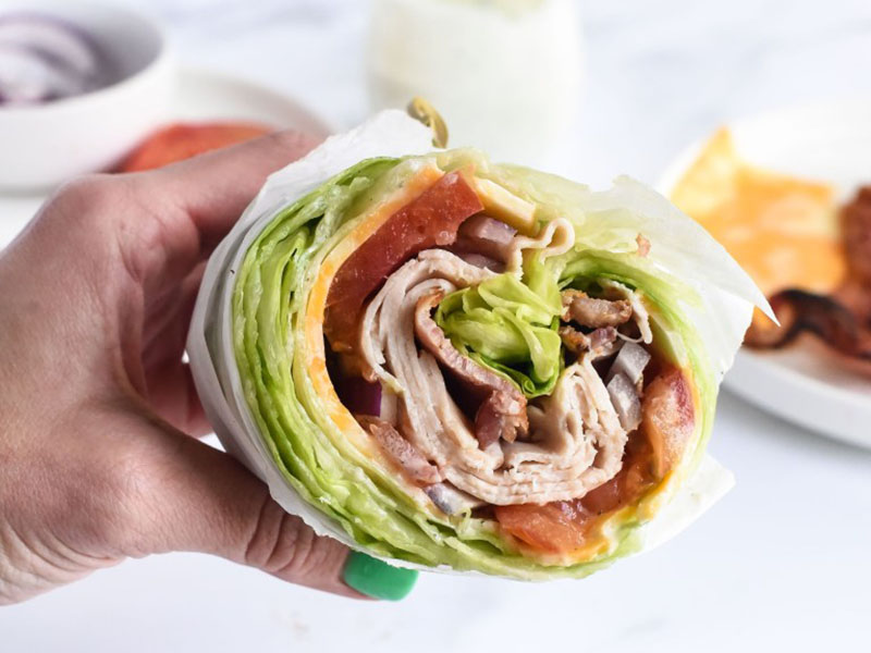 High-protein dinners: Turkey Bacon Ranch Lettuce Wraps