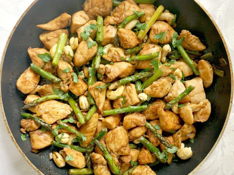High-protein dinners: Quick Chicken and Asparagus Stir-Fry