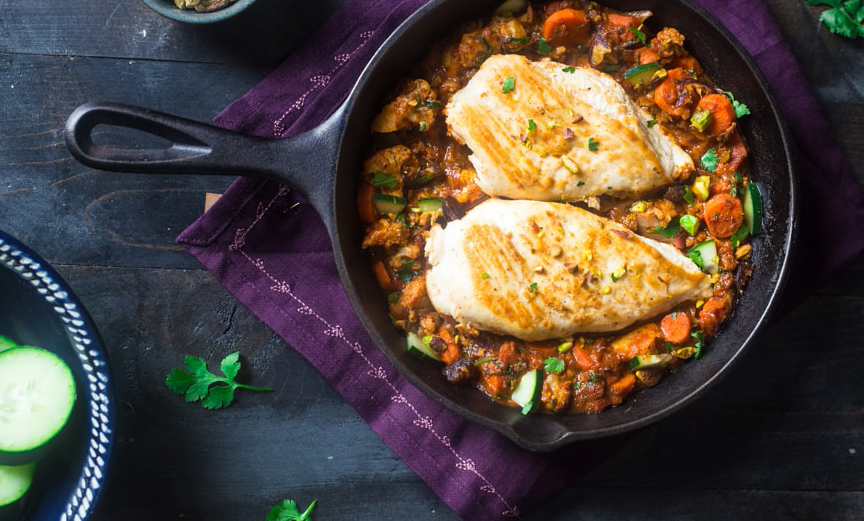 500-calorie meals: Moroccan Chicken Skillet