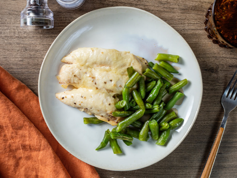 Low-carb, high-protein recipes: Parmesan Chicken Tenders and Green Beans