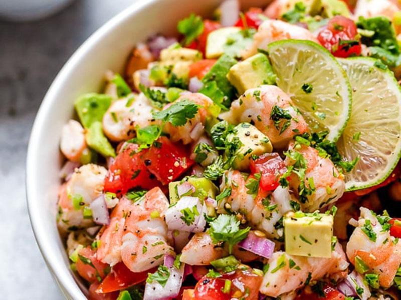 Low-carb, high-protein recipes: Zesty Lime Shrimp and Avocado Salad