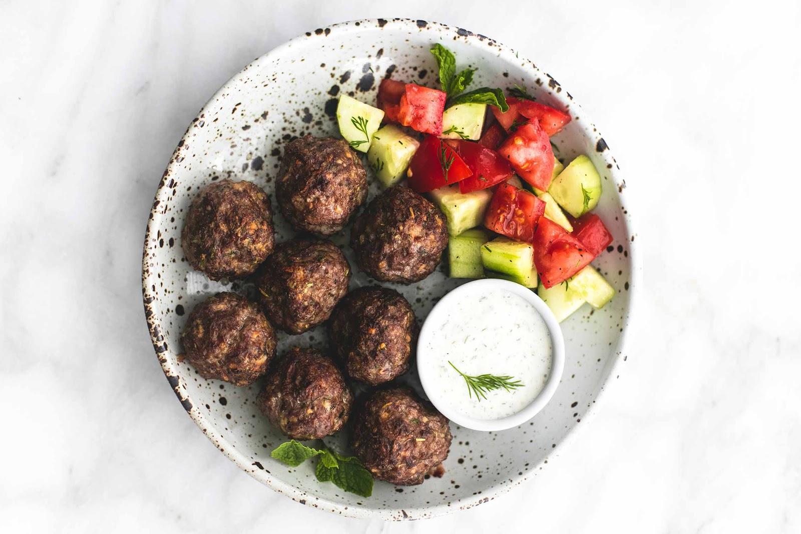 Quick low-carb meals: Greek Beef Meatballs
