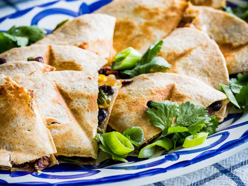 Vegetarian meal plan: Southwest Veggie Quesadillas With Cherry Tomato-Avocado Salsa