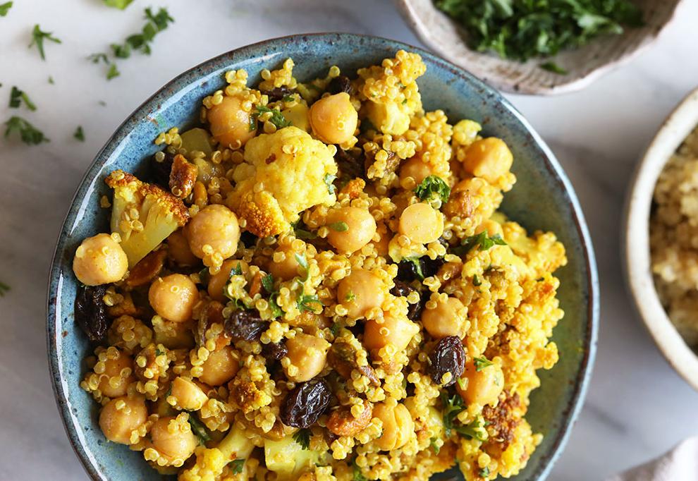 Heart-healthy meals: Golden Roasted Cauliflower and Quinoa Salad