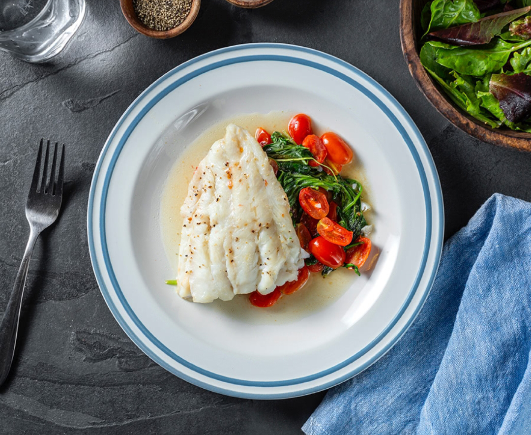Heart-healthy meals: Baked Cod With Arugula & Cherry Tomatoes
