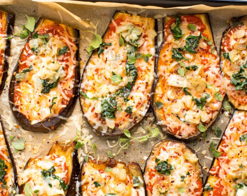 Easy low-carb meals: Low-Carb Eggplant Pizza