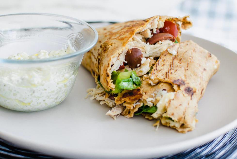 Easy college meals: Greek-Style Chicken Crunchwrap