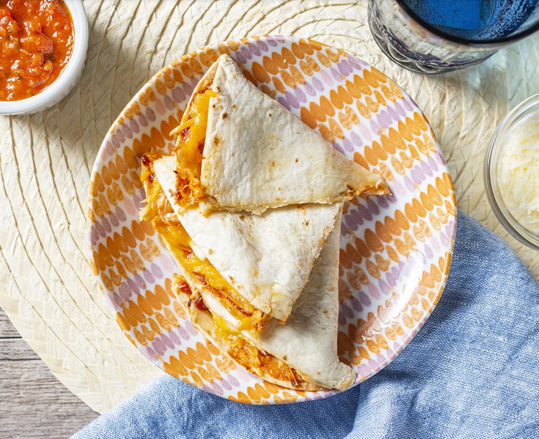 Easy college meals: BBQ Chicken Quesadilla