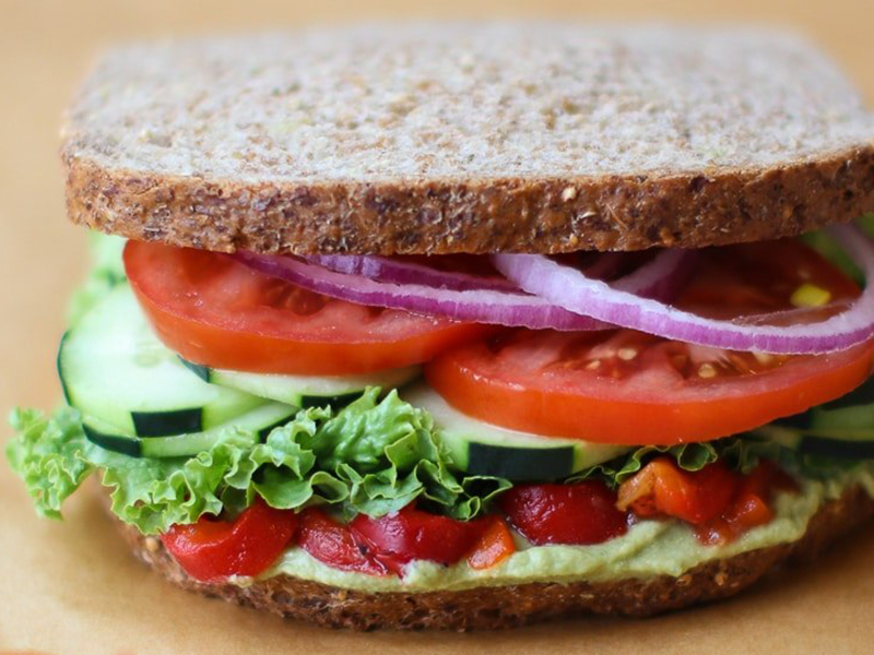 Easy meals for two on a budget: Mediterranean Veggie Sandwich