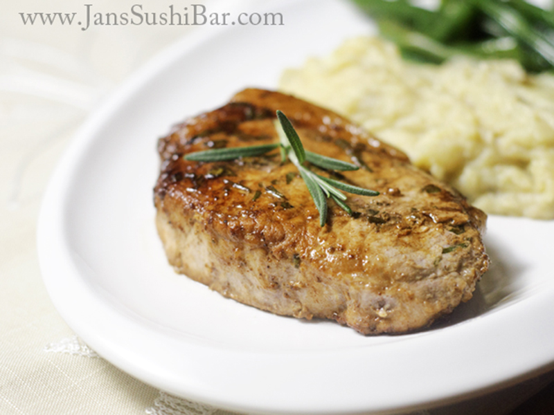 Easy meals for two on a budget: Apple Mustard Pork Chops