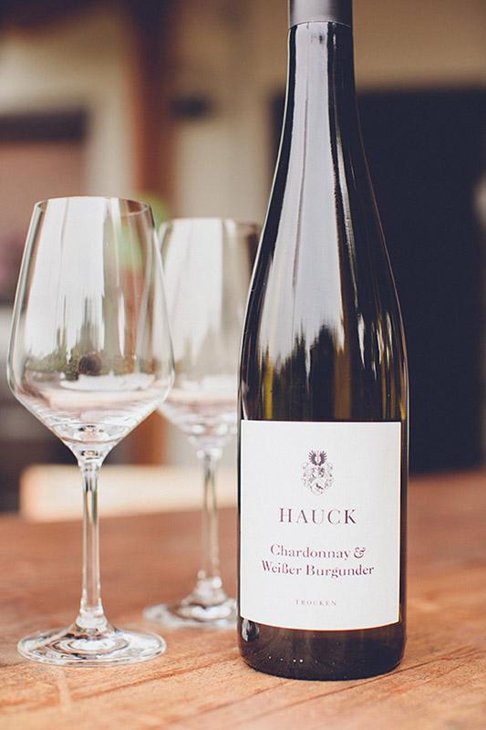 Weinhaus Hauck Foto Weinflasche