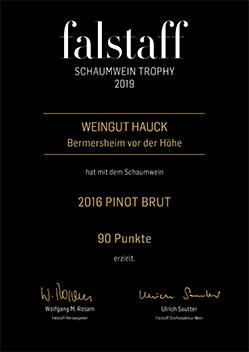 Auszeichnung falstaff 2016 Pinot brut