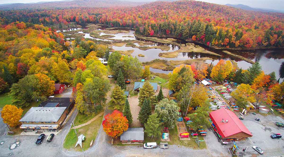 Mountainman's Old Forge store campus on the Moose River