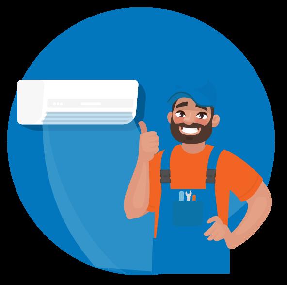 Smiling HVAC repairman