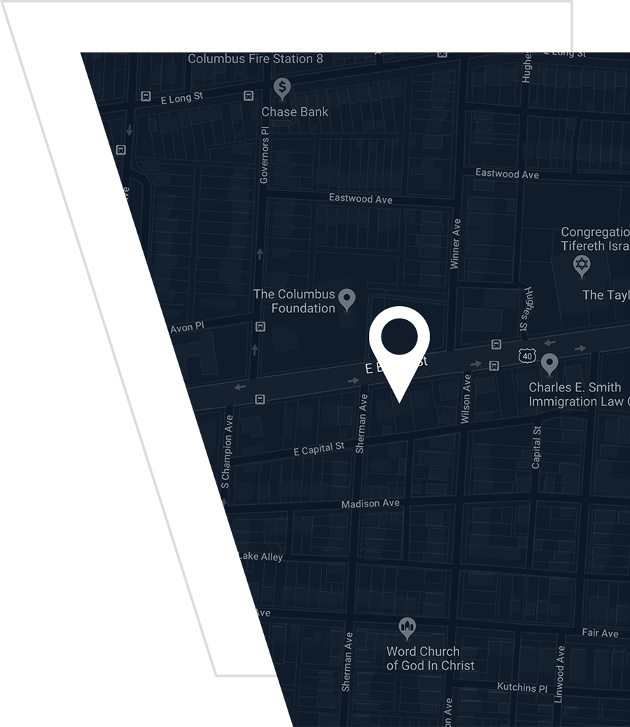 Map to Advanced Columbus Dentistry