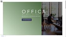Offica website screenshot