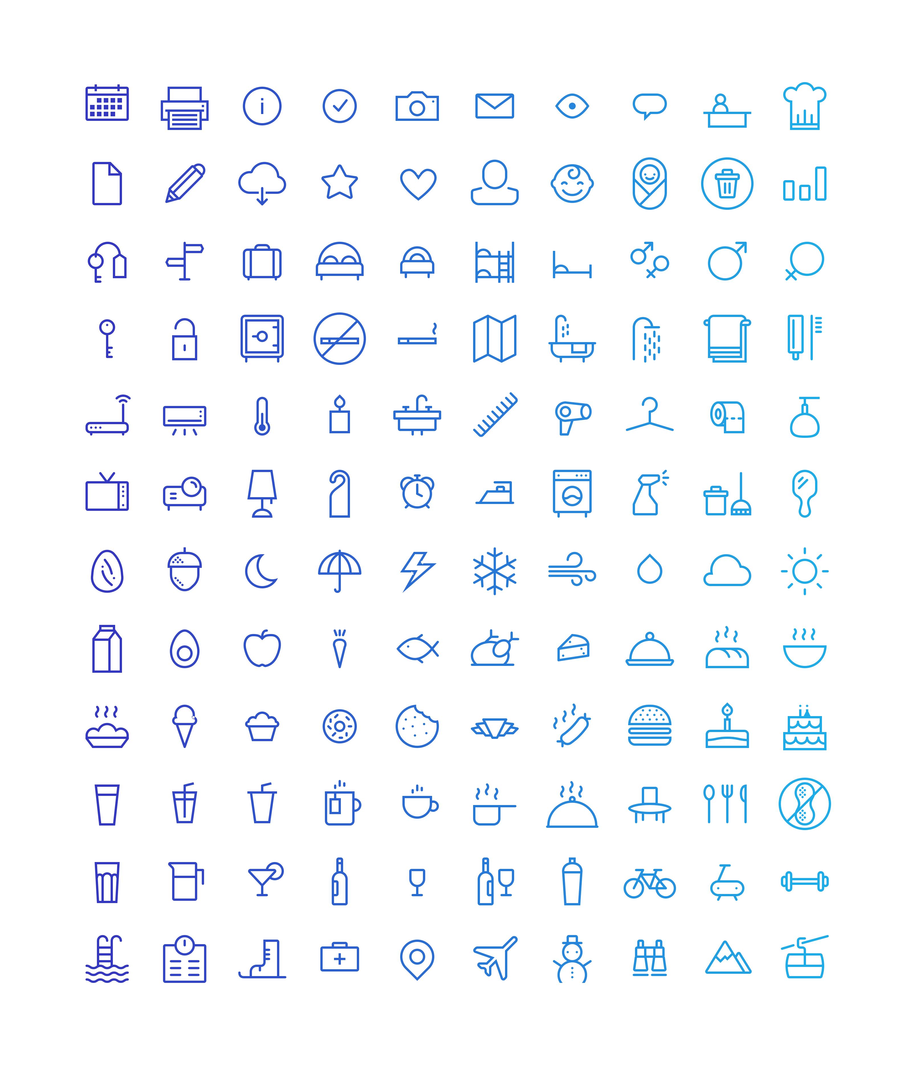 smart host icon set