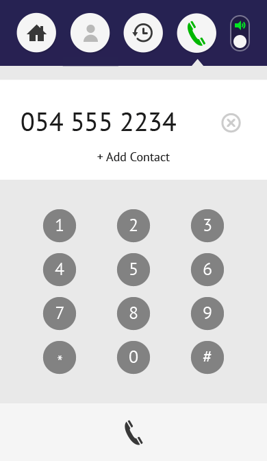 Sunriver app dialer screen
