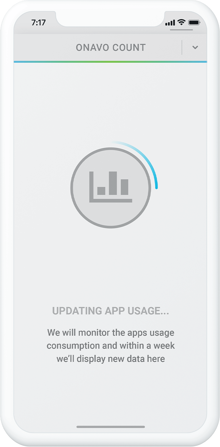 Onavo app new interface screen - gathering data