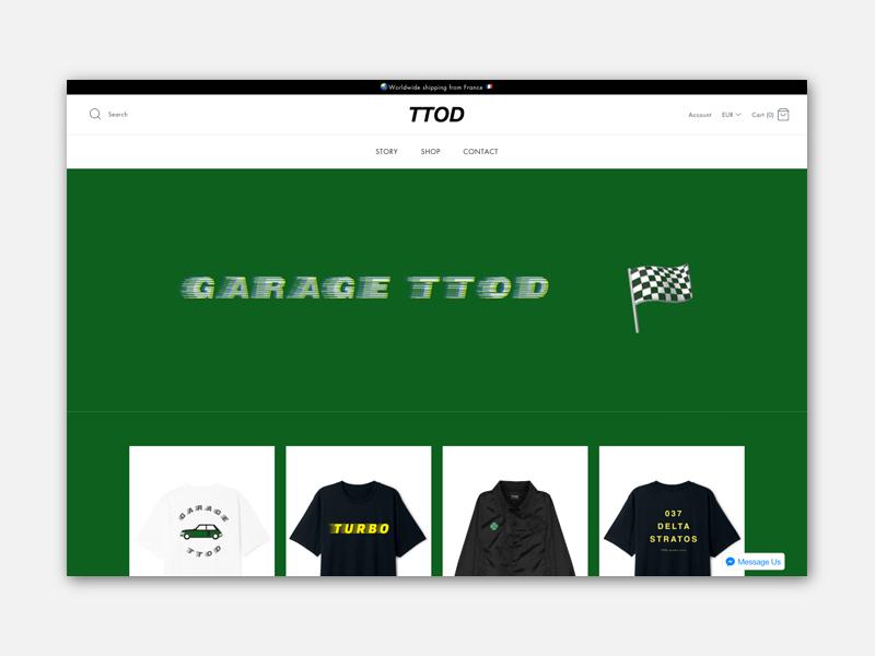 Site shopify TTOD
