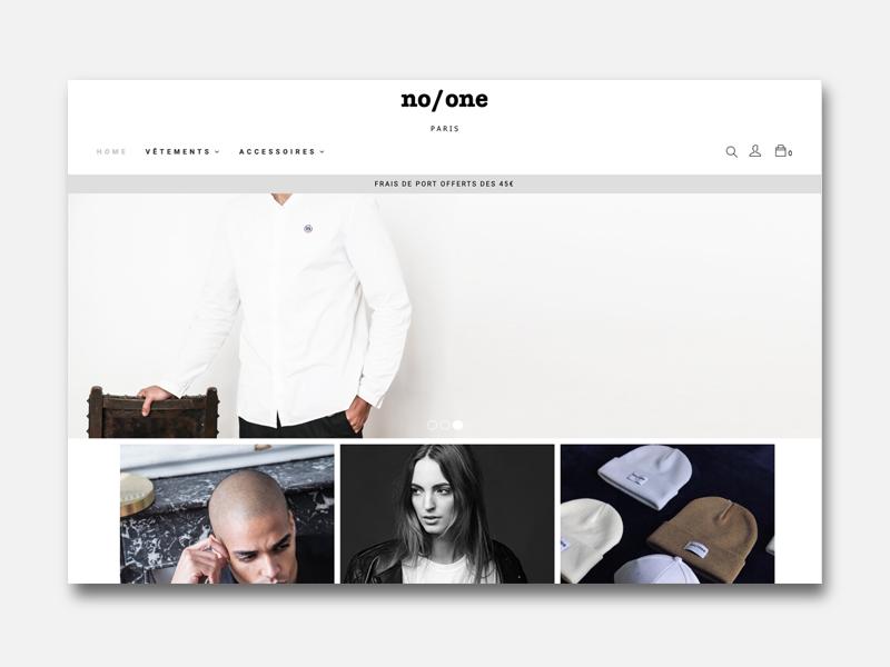 Site shopify No One Paris