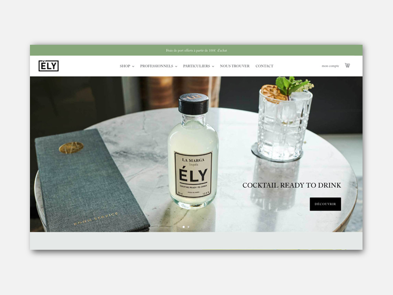 Site shopify e-commerce ely cocktail