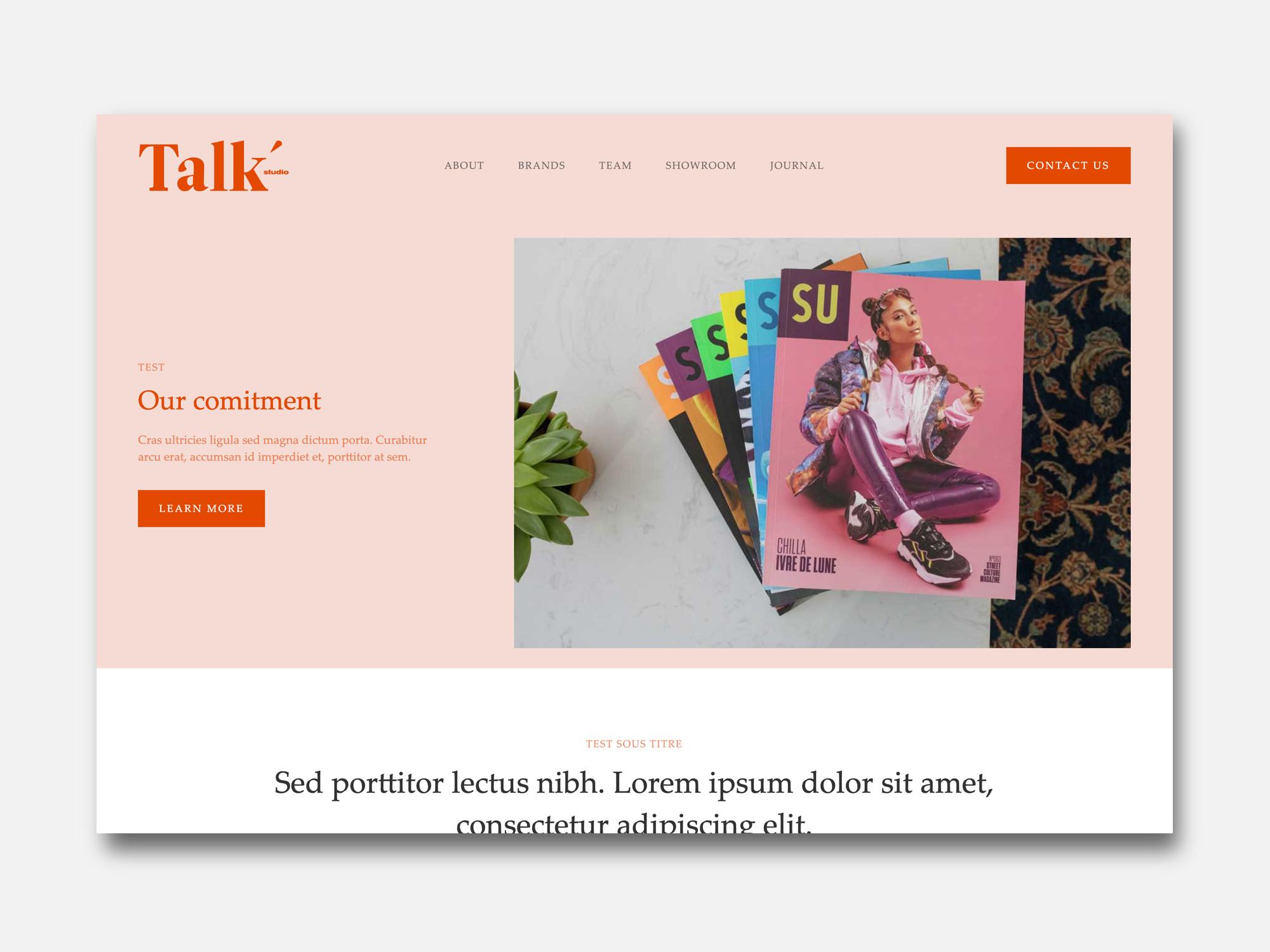 Site Showroom Talk studio