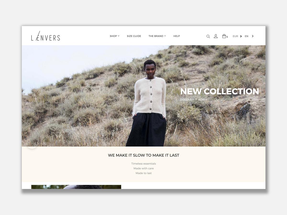 L'envers site e-commerce shopify