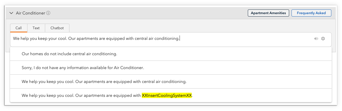Highlighted Variable in Pre-Loaded Leasing Question