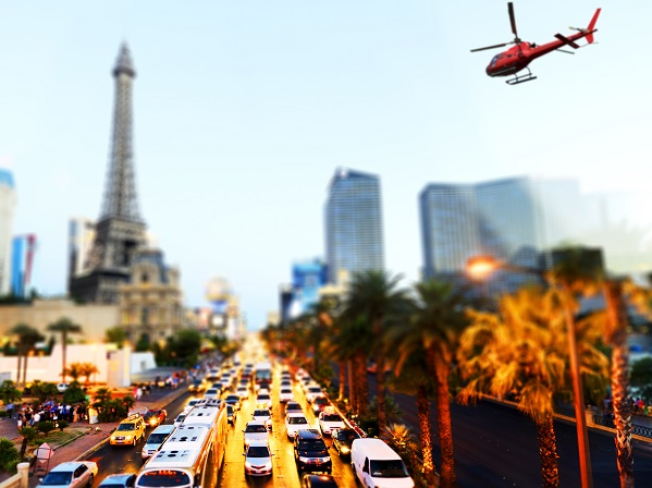 Helicopter Over Las Vegas Strip