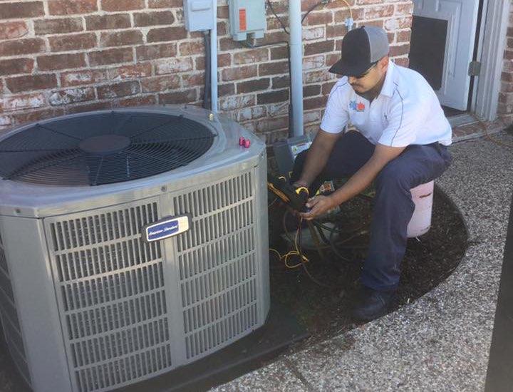 repairing an a/c unit