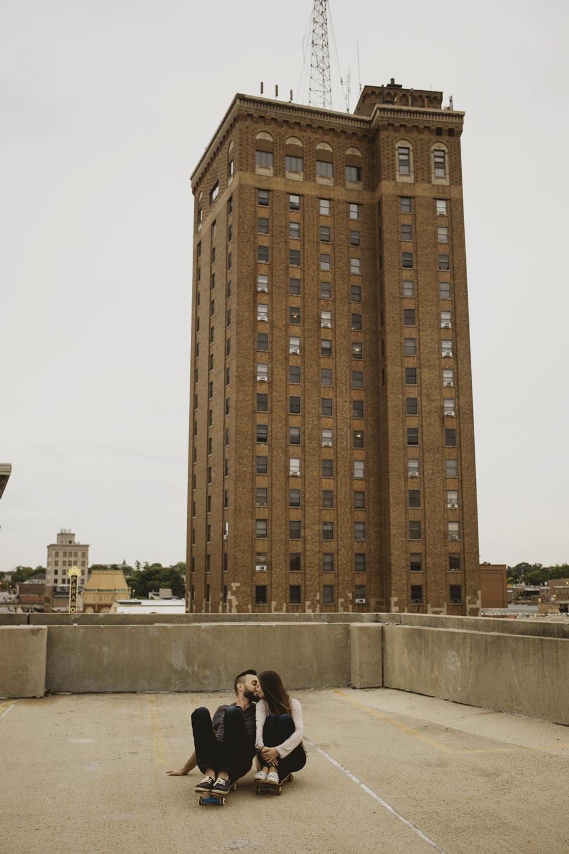 James & Stacy: Downtown Aurora, Illinois