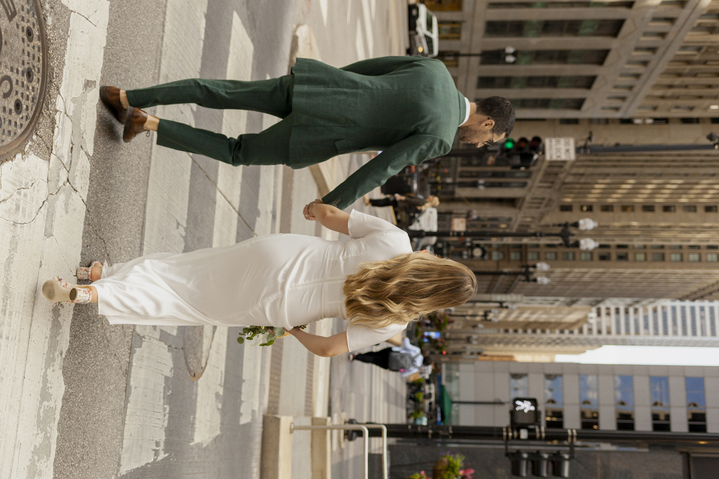 City Hall Elopement in Downtown Chicago & West Loop