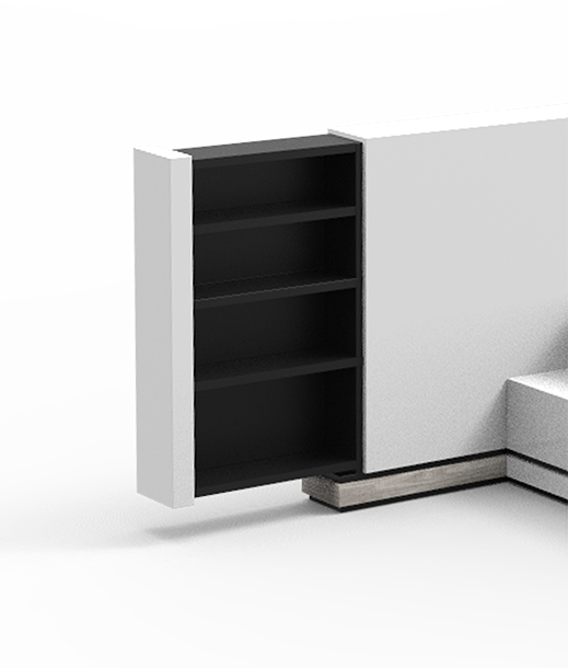 First iteration of bed nightstand design